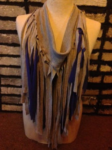 Try layering two different fringe scarf together for extra volume and drama!!