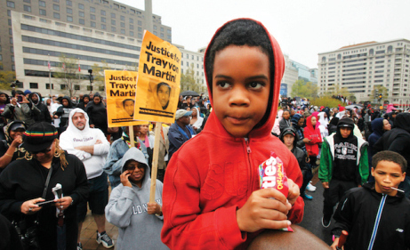 A rally in support of justice for Trayvon Martin. (AP Photo/Jacquelyn Martin)(AP Photo/Jacquelyn Martin)